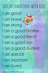 affirmations to do with kids