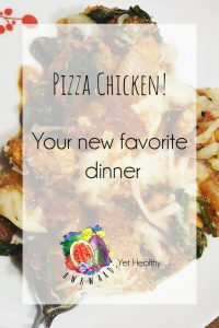 pizza chicken, low carb dinner